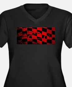Fast Car Chequered Flag Plus Size T-Shirt