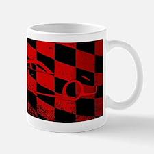 Fast Car Chequered Flag Mugs