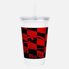 Fast Car Chequered Fla Acrylic Double-wall Tumbler