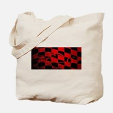 Fast Car Chequered Flag Tote Bag