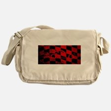 Fast Car Chequered Flag Messenger Bag