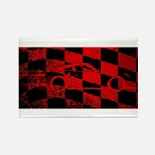 Fast Car Chequered Flag Magnets