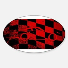Fast Car Chequered Flag Decal