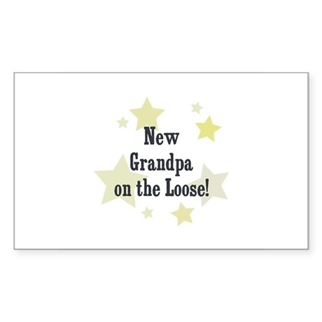 New Grandpa on the Loose! Rectangle Sticker