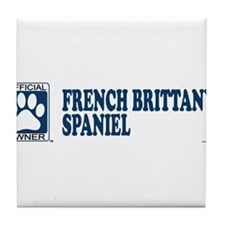 FRENCH BRITTANY SPANIEL Tile Coaster