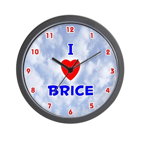 I Love Brice (Red/Bl) Valentine Wall Clock