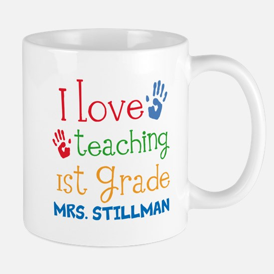 Personalized 1st Grade Teacher Mugs