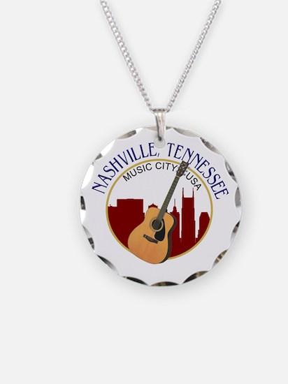 Nashville, TN Music City USA-RD Necklace