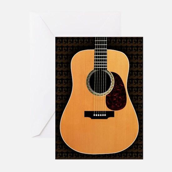 acoustic-guitar-framed panel print c Greeting Card