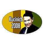 Kucinich Colors 2008 Oval Bumper Sticker