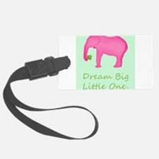 Pink Elephant Baby Wishes Luggage Tag