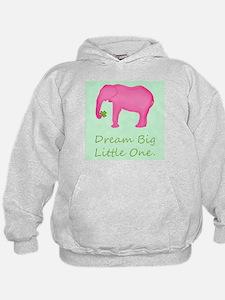 Pink Elephant Baby Wishes Sweatshirt