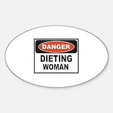 dieting woman fun Decal