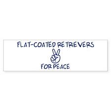 Flat-Coated Retrievers for Pe Bumper Bumper Sticker