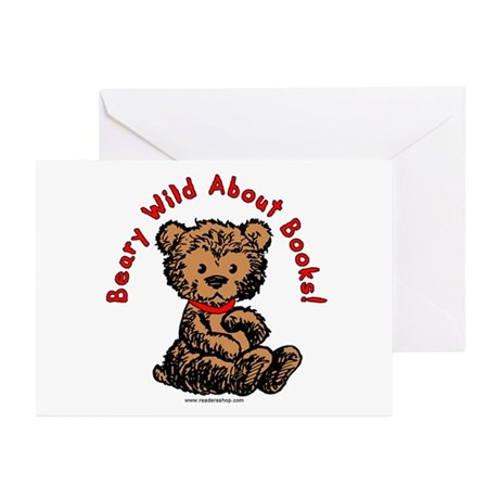 Beary Wild About Books Greeting Cards (Pk of 10)