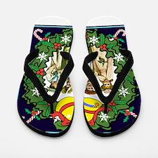 Dressed for Christmas Flip Flops