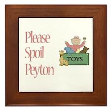 Please Spoil Peyton Framed Tile