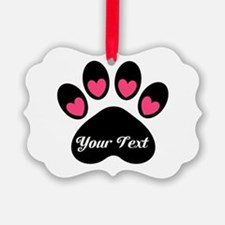 Personalizable Paw Print Ornament