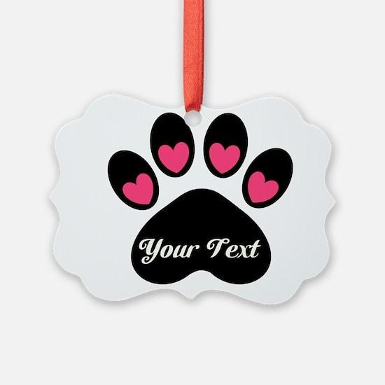 Personalizable Paw Print Ornament