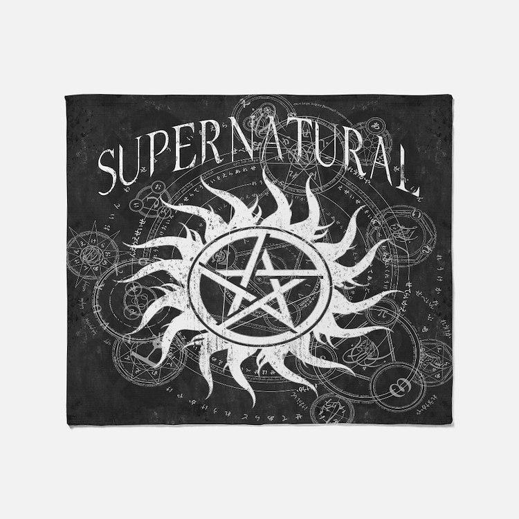 Supernatural Black Throw Blanket