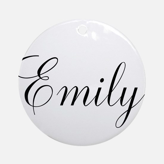 Personalized Black Script Round Ornament