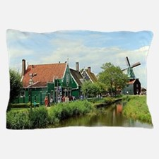 Dutch windmill village, Holland Pillow Case