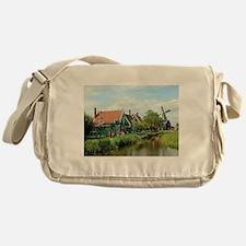 Dutch windmill village, Holland Messenger Bag