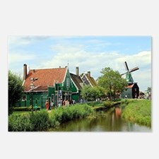 Dutch windmill village, H Postcards (Package of 8)