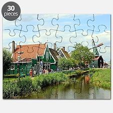 Dutch windmill village, Holland Puzzle