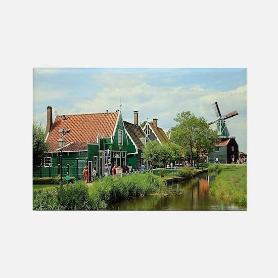 Dutch windmill village, Holland Magnets