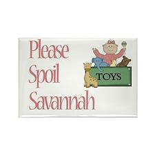 Please Spoil Savannah Rectangle Magnet