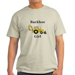 Backhoe Girl Light T-Shirt