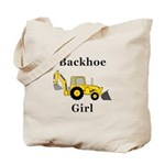 Backhoe Girl Tote Bag