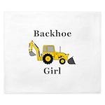 Backhoe Girl King Duvet
