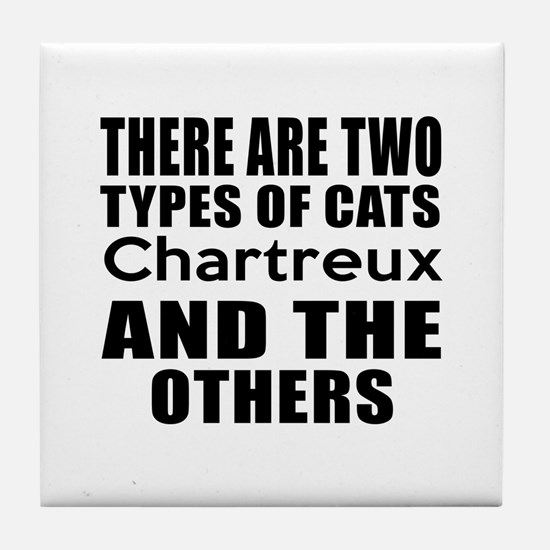 There Are Two Types Of Chartreux Cats Tile Coaster