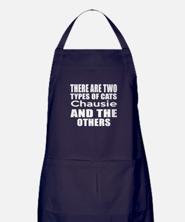 There Are Two Types Of Chausie Cats D Apron (dark)