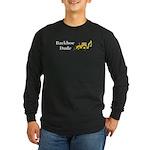 Backhoe Dude Long Sleeve Dark T-Shirt