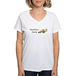 Backhoe Dude Women's V-Neck T-Shirt