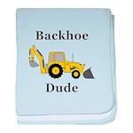 Backhoe Dude baby blanket