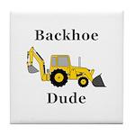 Backhoe Dude Tile Coaster