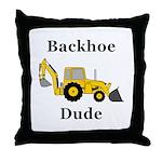 Backhoe Dude Throw Pillow