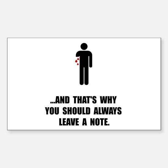 Leave A Note Decal