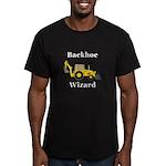 Backhoe Wizard Men's Fitted T-Shirt (dark)