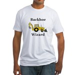 Backhoe Wizard Fitted T-Shirt