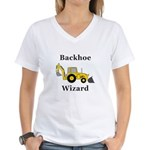 Backhoe Wizard Women's V-Neck T-Shirt