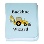 Backhoe Wizard baby blanket
