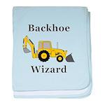 Backhoe Wizard baby blanket