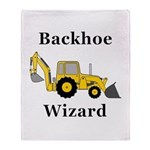 Backhoe Wizard Throw Blanket