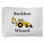 Backhoe Wizard Pillow Sham