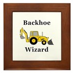 Backhoe Wizard Framed Tile